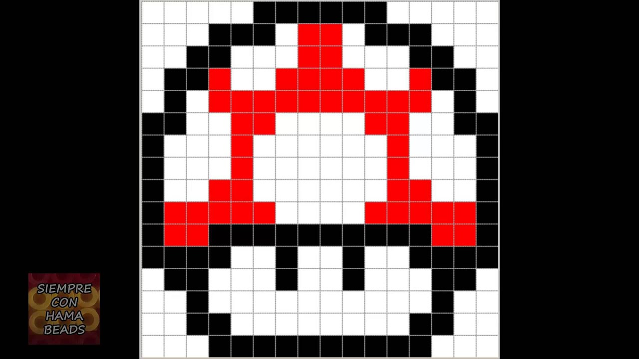 Asombroso Plantilla De Mario Pixel Art Motivo - Ejemplo De Colección ...