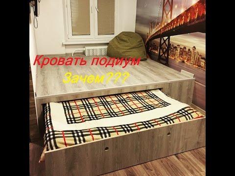 Встроенная кровать в шкаф стильная экономия места в