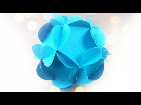 DIY paper Circle flower for wall backdrop decoration / arts and crafts paper flowers easy for kids