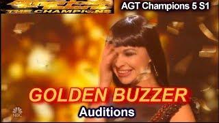 Kseniya Simonova sand artist WINS GOLDEN BUZZER  Audition | America's Got Talent Champions 5 AGT