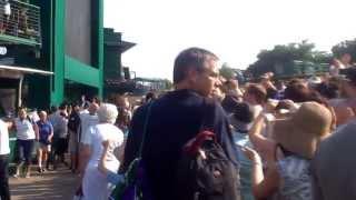 Wimbledon 2013 Murray Win - Crowd Reaction on Murray Mound!