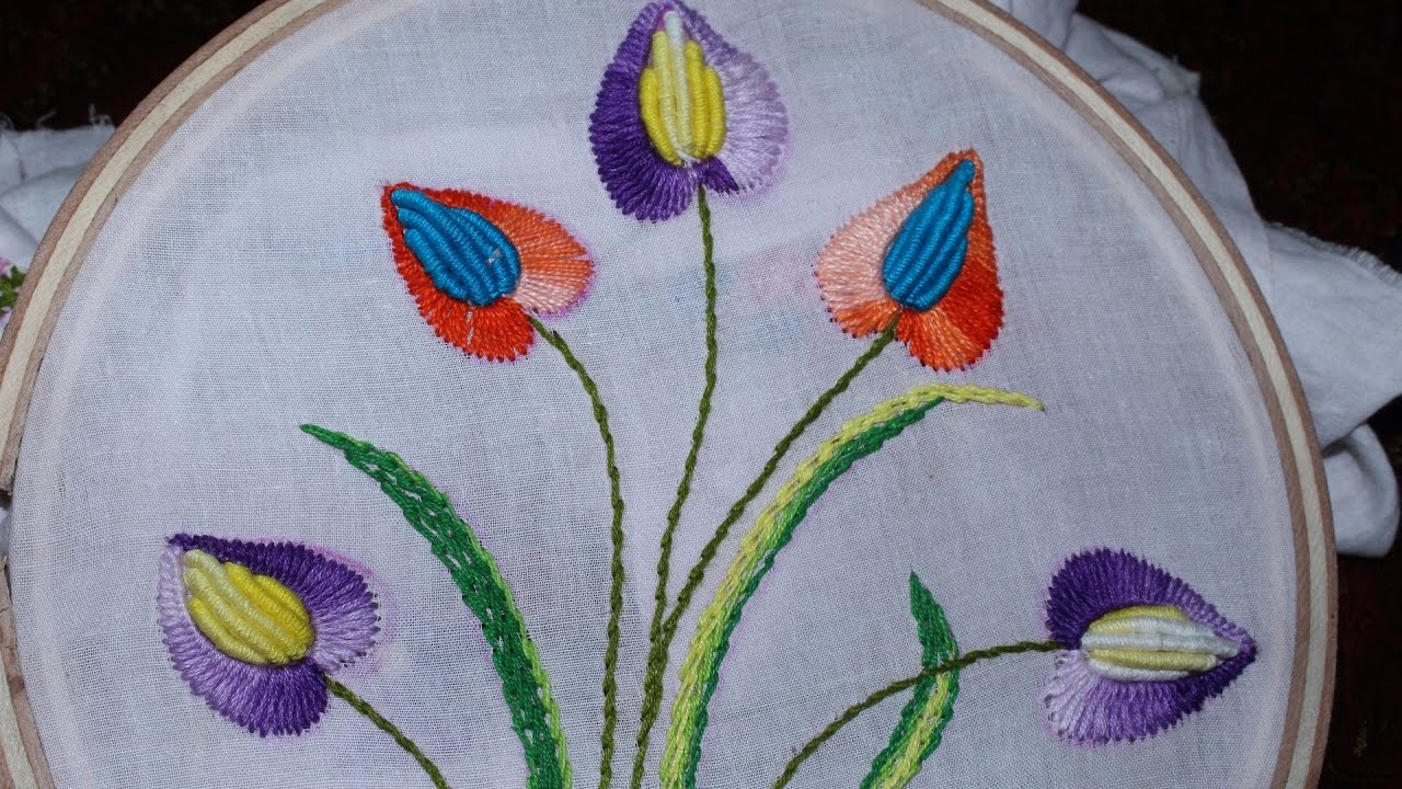 Hand Embroidery Designs  Cushion cover design  Stitch