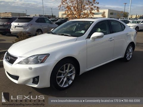 Lexus Certified Pre Owned White 2011 Is 250 Auto Awd