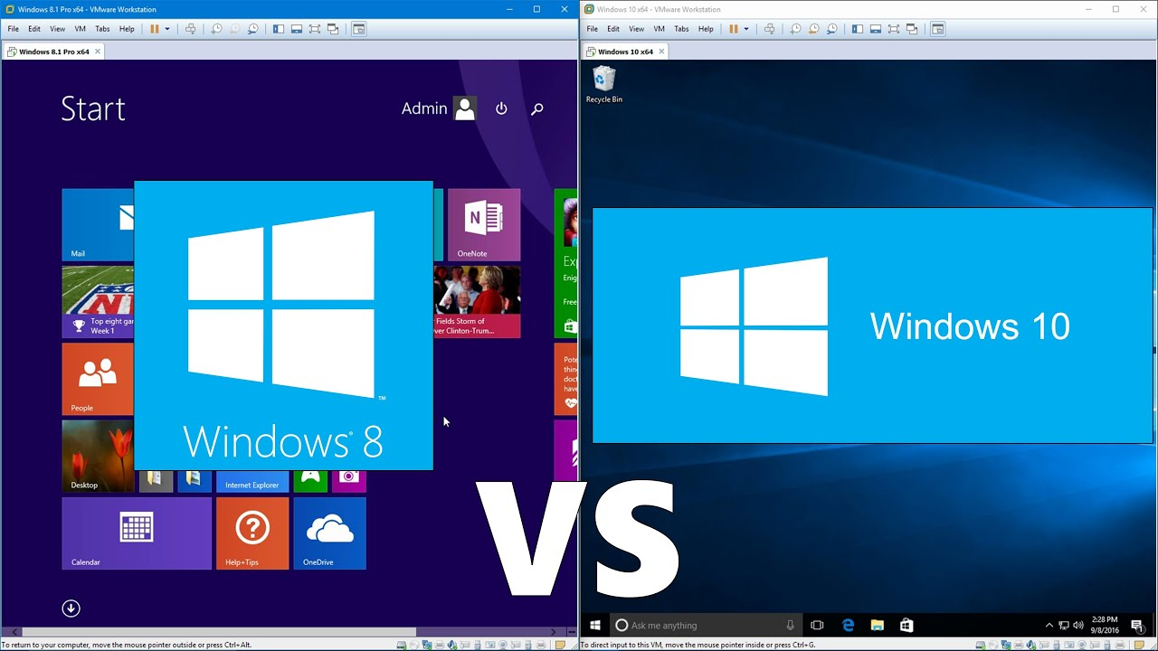 Comparing Windows 10 to Windows 8.1 - YouTube