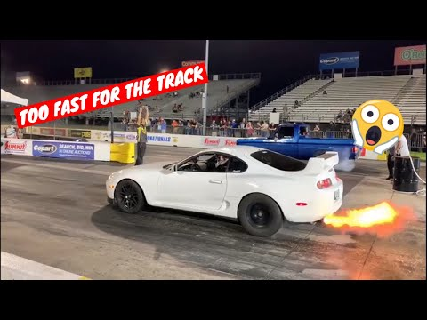 1000HP SUPRA GETS KICKED OFF THE TRACK (Cleetus and Cars)