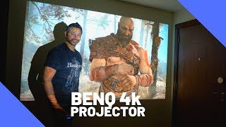 playing PS4 Pro on my 4k Projector  Benq W2700 4K HDR projector Review