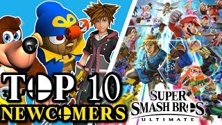 TOP 10 NEWCOMERS! - Super Smash Brothers Ultimate! - September 2018