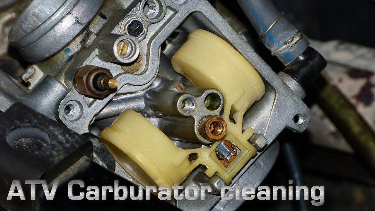ATV Carburetor Cleaning  YouTube
