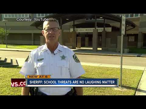 Sheriff: School threats are no laughing matter