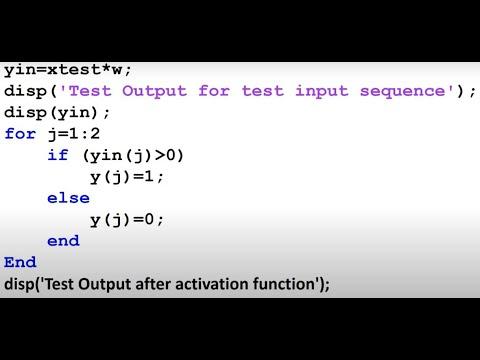 Design and implementation of AutoAssociative Nets using MATLAB