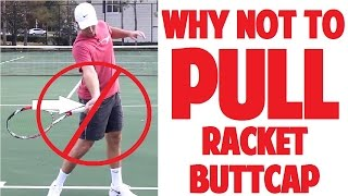 Tennis Forehand Technique | Why NOT to PULL Buttcap Toward Ball (Top Speed Tennis)