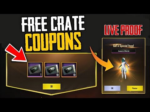 How To Get FREE Crate Coupons in PUBG MOBILE | 100% Working | Live Proof