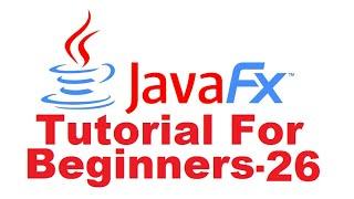 JavaFx Tutorial For Beginners 26 - JavaFX Charts : Pie Chart