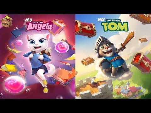 My Talking Angela Level 7777777 vs My Talking Tom Level 777*Gameplay make for Kid #228