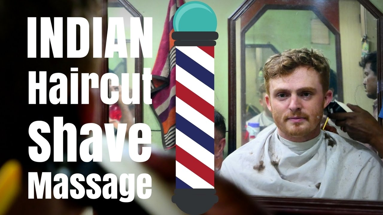 Haircut In India Indian Barber Hair Cut Beard Shave And Head