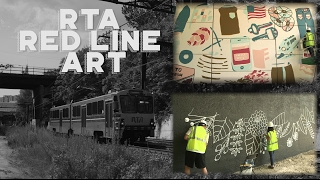 Public art installations were completed along the RTA's Red Line du...
