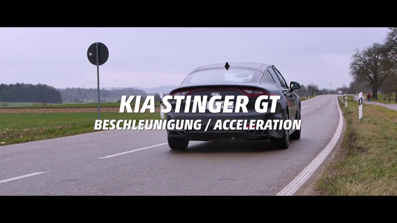 KIA Stinger GT Acceleration STOCK vs  RACECHIP (January 2018 on winter  tires)