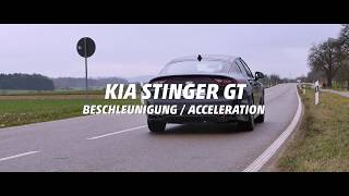KIA Stinger GT Acceleration STOCK vs. RACECHIP (January 2018 on winter tires)