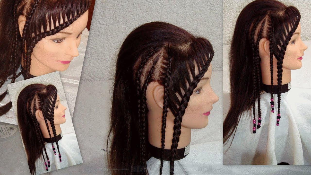 Como hacer trenza pegadas estilo rockero how to create - Como hacer peinados faciles ...
