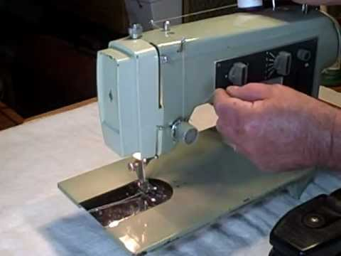 Classic Kenmore 4040 Sewing Demonstration YouTube Extraordinary How To Thread A Sears Kenmore Sewing Machine Model 2142