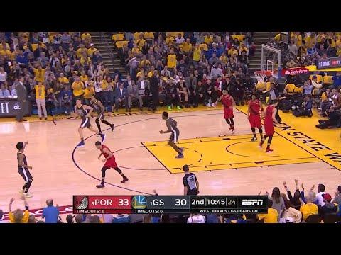 2nd Quarter, One Box Video: Golden State Warriors vs. Portland Trail Blazers