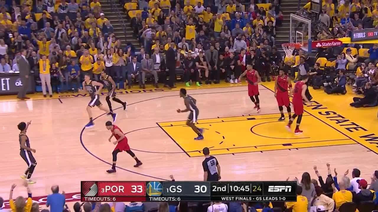 2nd Quarter, One Box Video: Golden State Warriors Vs