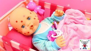 La Bebé Nenuco tiene VARICELA 🤒 la curo con el Maletín Médico de Nenuco - Historias con muñecas bebé thumbnail