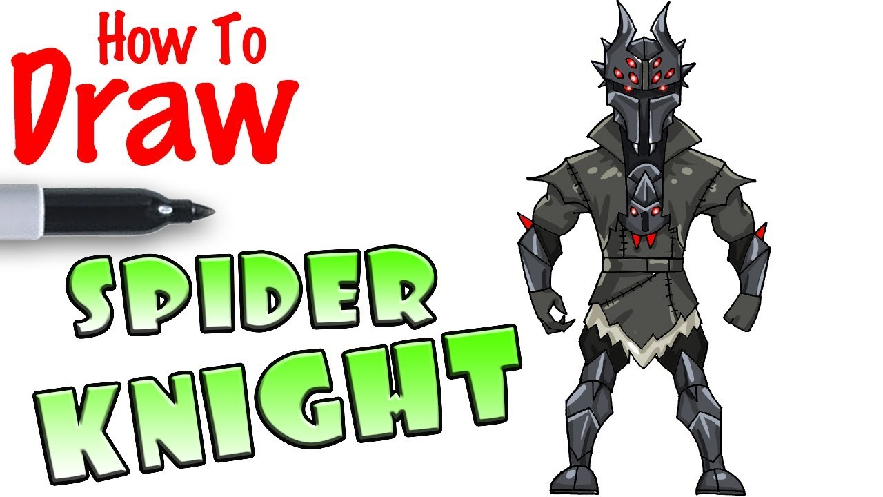 How To Draw Spider Knight Fortnite Youtube