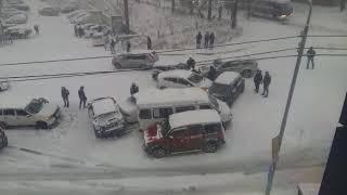 Массовое ДТП на ул. Фирсова