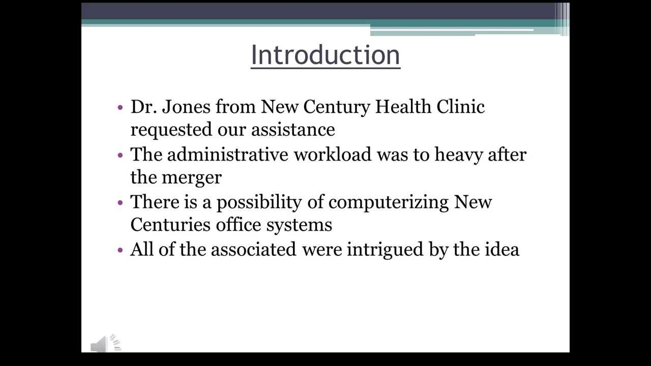 new century health clinic View notes - new century health clinic assignment 3 from cis 312 at  wayne state university new century health clinic new century health.
