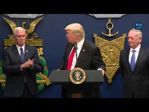 Swearing-in of the Sec. of Defense, General Mattis