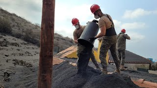 Así se organiza el Ejército para luchar contra el volcán de La Palma