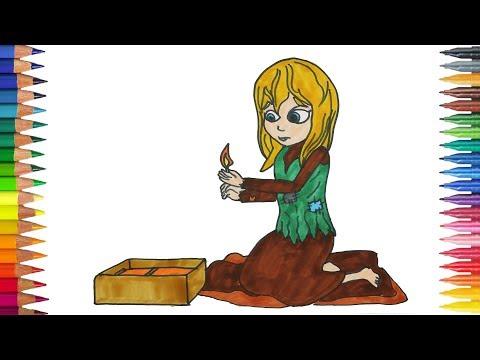 Das Kleine Mädchen Mit Den Schwefelhölzern Zeichnung Ausmalbilder
