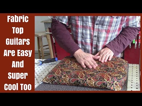 How To Apply Fabric To An Electric Guitar The Texas Toast Way