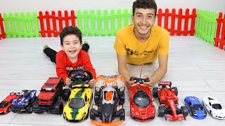 Yusuf and Enes's Toy cars race