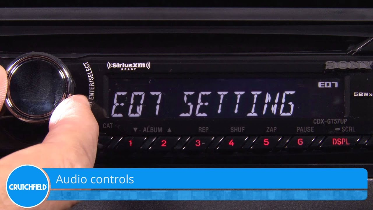 hight resolution of sony cdx gt57up display and controls demo crutchfield video