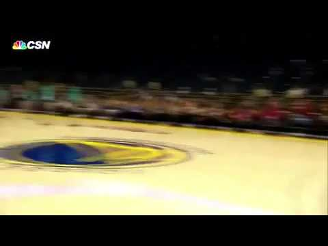 Steph Curry's dad: Dell Curry's deep 3-pointer on Warriors-Hornets pregame | 010117