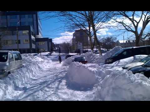 Yuzhno-Sakhalinsk after snow storm 03 March 2013