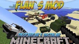Minecraft 1.8/1.7.10/1.7.2 - Como descargar e instalar Flan´s MOD (Aviones y armas) - Tutorial