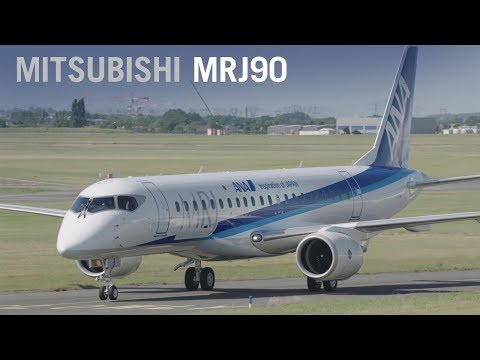 Mitsubishi's MRJ90 Airliner Makes Public Debut with ANA Livery at Paris Air Show 2017 - AINtv