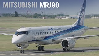 Mitsubishi's MRJ90 Airliner Makes Public Debut Paris Air Show 2017 - AINtv