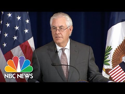 Tillerson Confirms Death of One American in Spain Terror Attack | NBC News
