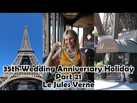 Le Jules Verne Restaurant Eiffel Tower Paris - 35th Wedding Anniversary Holiday Part 21