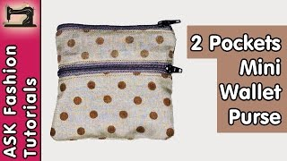 Two Pockets Mini Wallet / Purse | in Hindi | DIY