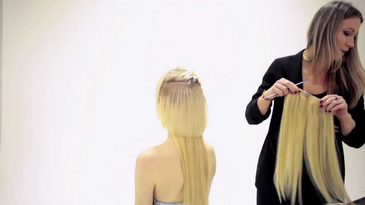 How to apply hair couture clip in extensions by sleek youtube pmusecretfo Images