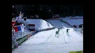 Carl-Johan Bergman kör hem segern åt Sverige i skidskytte stafett tävling 2012