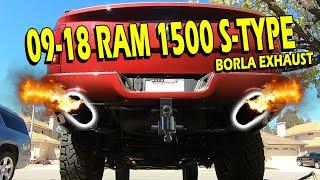 borla s type exhaust ram 1500 5 7hemi