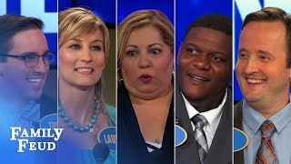 ALL-TIME GREATEST MOMENTS in Family Feud history!!! | Part 2 | Top 5 TMI Moments! | Family Feud