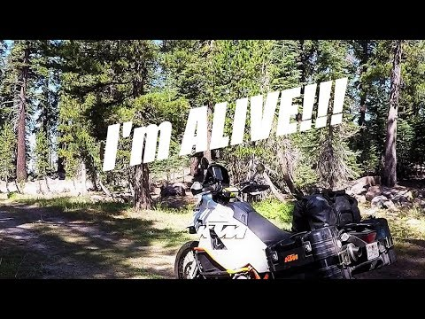 California Motorcycle Camping Adventure - Jeep Trails And A Crash In The Stanislaus National Forest