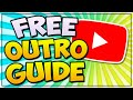 Make A FREE Outro For YouTube Videos (2021/2020) 🎨 YOUTUBE ENDSCREEN TEMPLATE